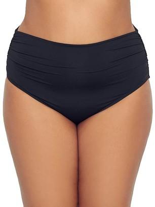 CoCo Reef Plus Size Classic Solids Impulse Fold-Over Bikini Bottom