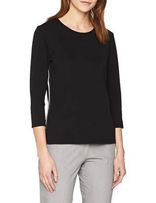 Tom Tailor Casual Women's's Crepe Langarmshirt Mit Tapes Long Sleeve Top Black 29999, Medium
