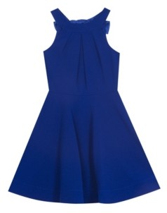 Rare Editions Big Girl Scuba Crepe Halter Dress