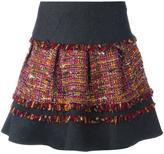 Diane von Furstenberg panelled skirt - women - Cotton/Linen/Flax/Acrylic/Wool - 8