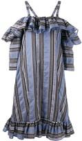 Henrik Vibskov Floss striped ruffled dress