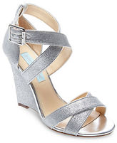 Betsey Johnson Cheryl Gladiator Glitter Wedge Sandals