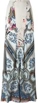 Etro porcelain print fluid skirt - women - Silk - 40
