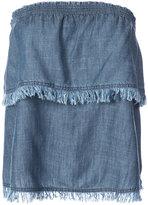 Trina Turk strapless top - women - Lyocell/Linen/Flax - S