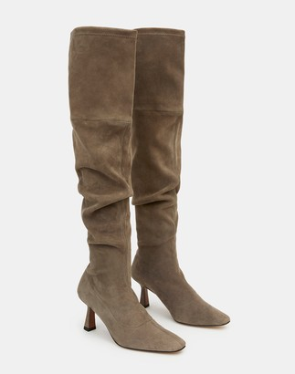 Lafayette 148 New York Suede Pia Tall Boot