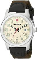 Wenger Men's 72803 Analog Display Swiss Quartz Green Watch