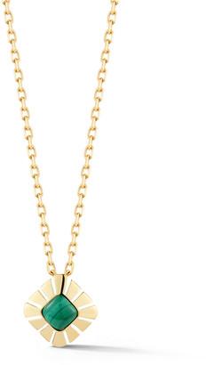 Miseno Vesuvio 18k Yellow Gold Malachite Pendant Necklace
