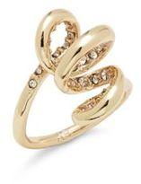 Alexis Bittar 10K Gold-Plated Crystal Spiral Ring