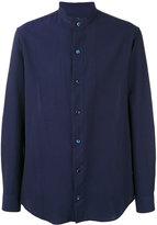 Giorgio Armani Seersucker mandarin collar shirt - men - Cotton - 39