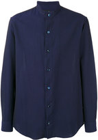 Giorgio Armani Seersucker mandarin collar shirt - men - Cotton - 40