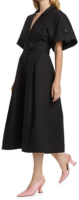 Carolina Herrera Wide-Sleeve Shirtdress