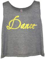 Tia's Dance Wear Women's Gray Crop Tank Top