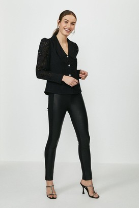 Coast Leather And Ponte Leggings