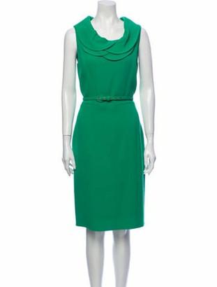 Oscar de la Renta 2011 Midi Length Dress Wool