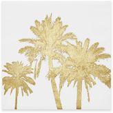Intelligent Design Gold Palms Foil Embellished Canvas Wall Art