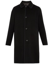 Alexander McQueen Single-breasted cashmere overcoat