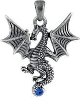 Summit New Blue Tatsu Dragon Pendant Collectible Accessory Serpent Necklace