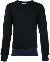 Facetasm stripe detail longsleeve sweater - men - Cotton - 5