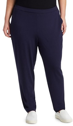 Eileen Fisher, Plus Size System Slouchy Slim Jersey Ankle Pants