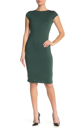 Velvet Torch Cap Sleeve Bodycon Dress