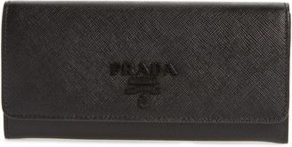 Prada Monochrome Saffiano Leather Wallet