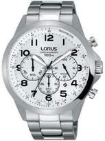Lorus Men's 43mm Steel Bracelet & Case Quartz -Tone Dial Watch Rt369fx9