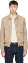 Tiger of Sweden Taupe Suede Chaz 5 Jacket