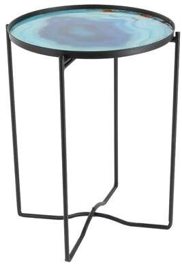 Cole & Grey Metal/Glass End Table Cole & Grey