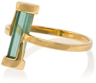 Jessie Western 18k yellow gold Kinetic green tourmaline ring