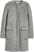 H&M Wool-blend Coat - Gray melange - Ladies