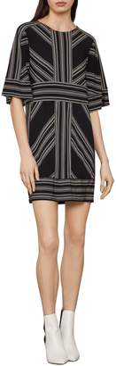 BCBGMAXAZRIA Geometric Striped Shift Dress