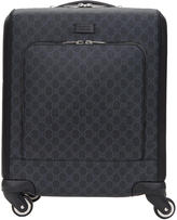 Gucci Black Mini Gg Supreme Trolley Suitcase