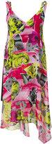 Versace floral draped dress - women - Polyamide/Polyester/Spandex/Elastane/Viscose - 38