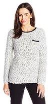 Calvin Klein Women's Eyelash Crew Neck Sweater