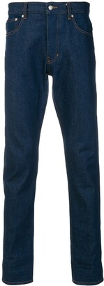 Ami Fit 5 Pockets Jeans With Contrasted Cuff
