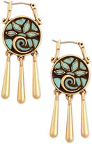 Lucky Brand Gold-Tone Mosaic Drop Earrings