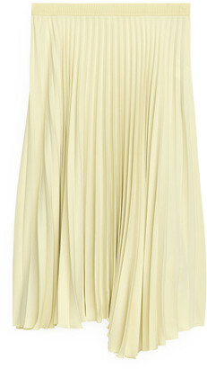 Arket Pleated Asymmetric Skirt