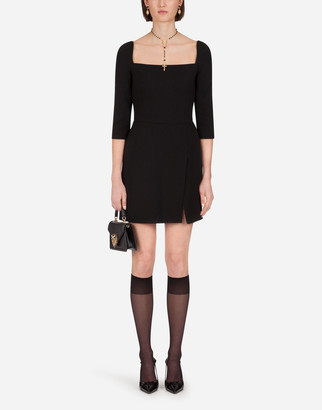 Dolce & Gabbana Short Double Crepe Dress