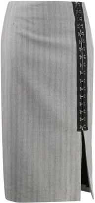 Karl Lagerfeld Paris hook & eye tape skirt