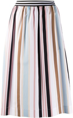 Woolrich striped A-line skirt