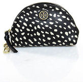 Tory Burch Black Canvas Spotted Pouch Size Small
