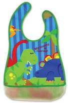 Stephen Joseph Dino Wipeable Bib in Green