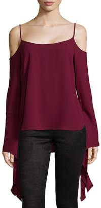 BCBGMAXAZRIA Cold-Shoulder Bell Sleeve Top