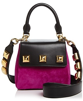 Marc Jacobs Studded Suede & Leather Satchel