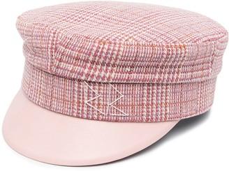 Ruslan Baginskiy Houndstooth-Pattern Baker Boy Hat