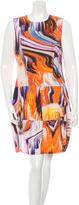 Vera Wang Watercolor Print Sleeveless Dress w/ Tags