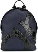 Salvatore Ferragamo branded backpack - men - Leather/Neoprene - One Size