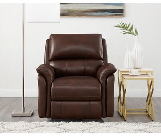 Winston Porter Genie Leather Power Wall Hugger Recliner