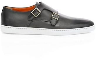 Santoni Atlantis Monk-Strap Leather Sneakers