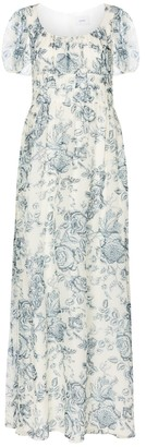 Erdem Rick Toile de Jouy silk voile gown